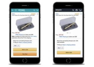 How the Amazon Buy Box displays on Mobile and App