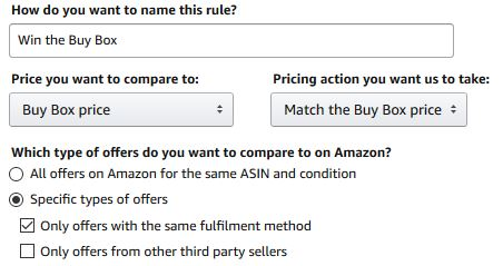 Using Amazon's Automate Pricing tool to win the Buy Box