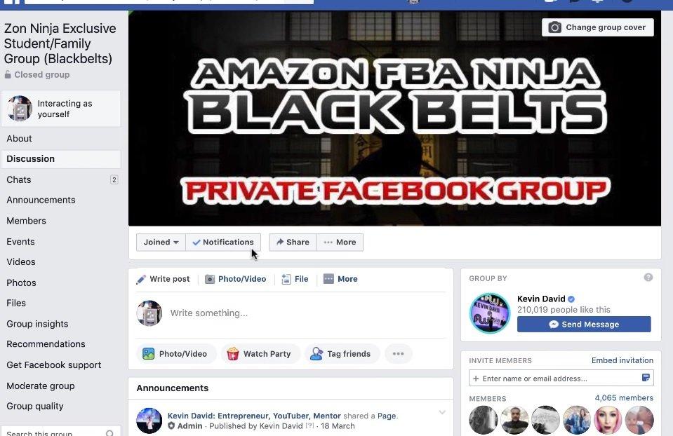 Kevin David Zon Ninja Blackbelt Group