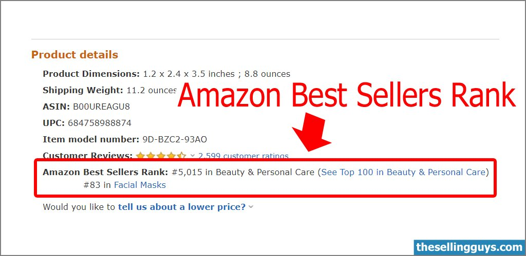How to find the Amazon Best Sellers Rank