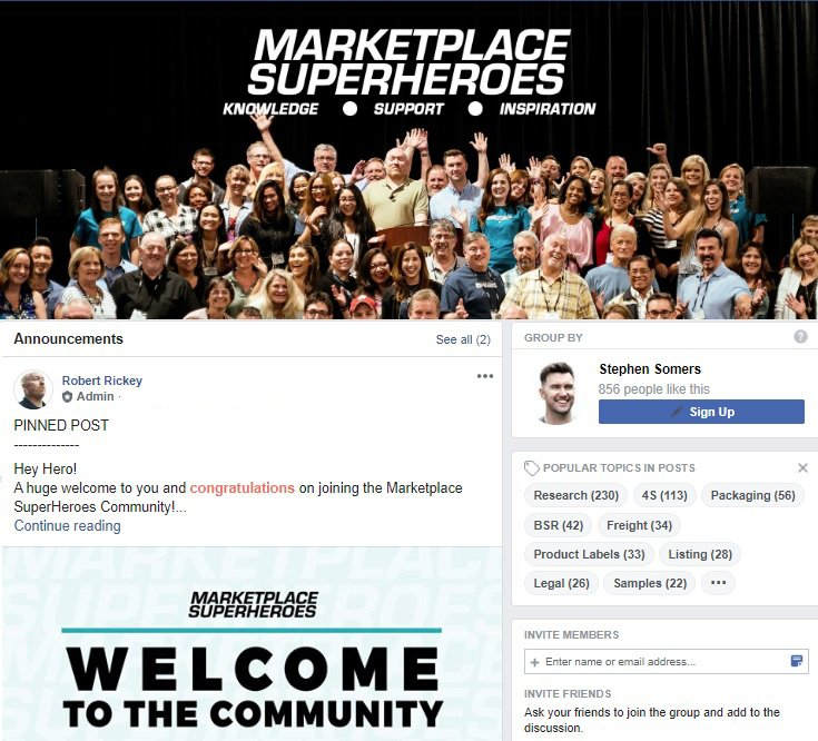 Marketplace Superheroes Facebook Community