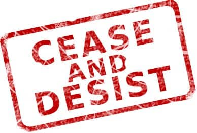 Cease and Desist Letter to Protect Your Listing