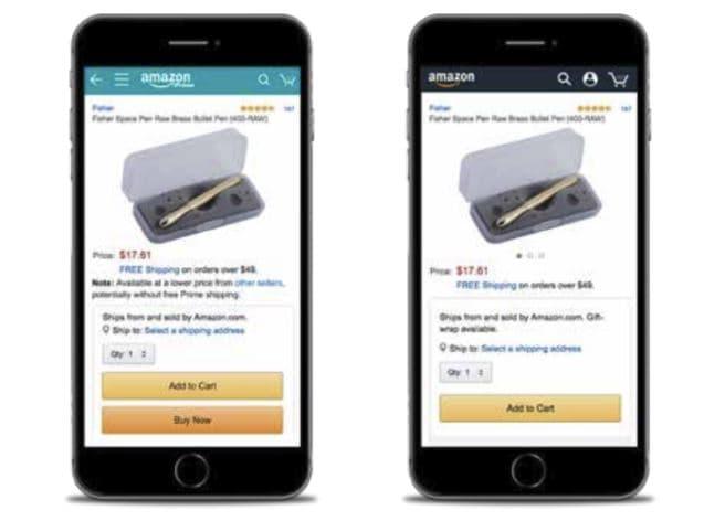 How the Amazon Buy Box Displays on Mobile