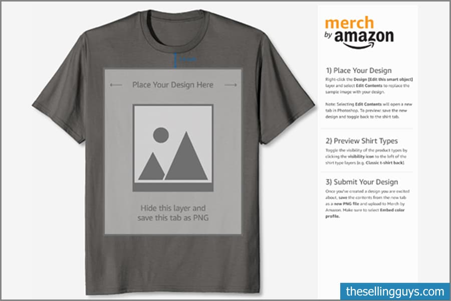 Merch by Amazon Downloadable Template