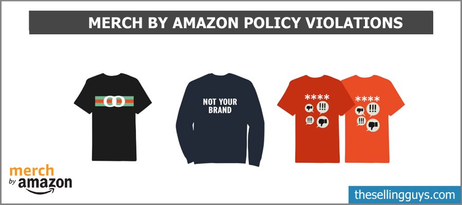 Merch by Amazon Policy Violations - The Selling Guys